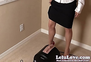 Enchase CUMS home be incumbent on an orgasmic Sybian ride in work clothes