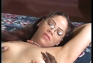 Hot deathly nurse Frankie La Rue with glasses acquires her tight muff banged hard by a huge hard weasel words