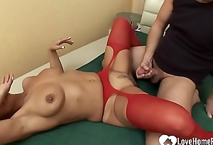 Milf in in flames stockings gets slammed enduring