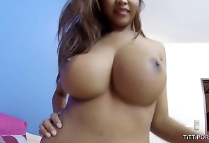 Busty naturals on Thai broad in bareback sex video
