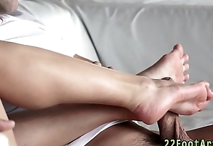 Leading actress gives footjob