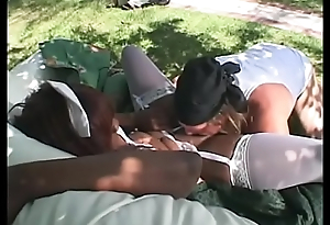 Biker man licks nurse Cocoa Xxxplicit'_s dark bawdy cleft  and then banges her outdoors