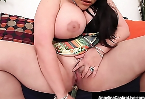 Cuban Sex Demiurge Angelina Castro Pounds Her Plump Pussy!