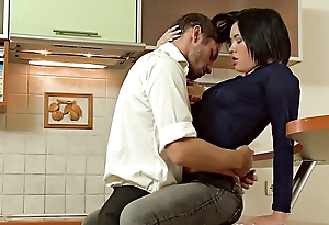 Amazing russian beauty fucked wide the cookhouse
