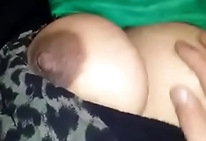 Big boobs of my Indian wife slumbering