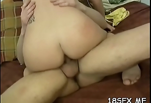 Adorable girl craves to feel weenie inside her, until she cums
