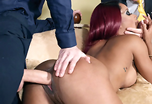Kiki Minaj taking Danny D's huge cock doggy germane to