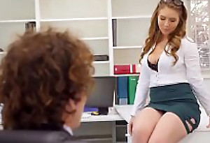 Creampies with despondent office secretary Lena Paul