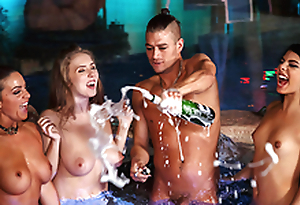 Lena Paul & Xander's World Tour - porn scene