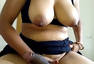 Mom Riding Son Big Black Cock In Reverse Cowgirl Slant