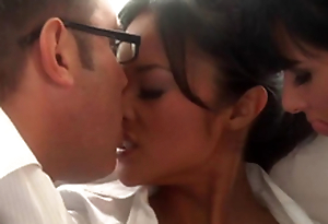 Beautiful Oriental and Tory Lane Sharing Some Man sandbank