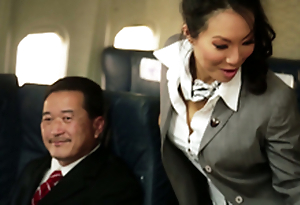 Kinky Flight Hostesses Relating to Amazing Airplane Orchestrate Fucky-fucky