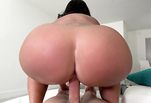 Big ass maid Kailani Kai reversal cowgirl riding her boss