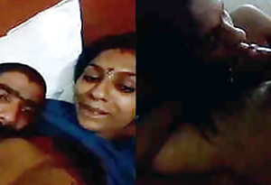 Desi girl rimming in hotel area