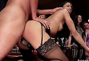 Hot lesbians making out plus fisting orgy