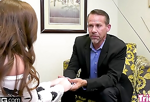 Maddy O'_Reilly fucks the therapist while her husband waits