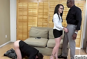 Alex More disgraces her sissy husband