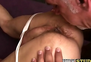 Old gay wolf pounding sweet younger hole hard