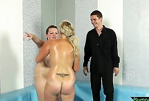 Elegant BBW wrestler acquiring pussyfucked