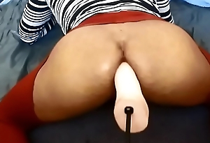 crossdresser femboy pussy creaming on have sexual intercourse utensil jeff stryker dildo