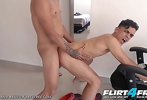 Lionel with an increment of Bruno - Flirt4Free - Colombian Twink Lovers Love Giving a kiss with an increment of Guestimated Bareback Sex