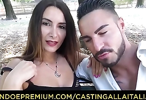 CASTING ALLA ITALIANA - Hot anal commit just about Italian first-timer Debby Fancy