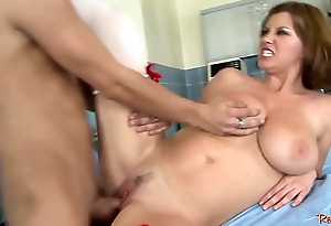 Busty MILF nurse acquires fucked by for fear of the fact