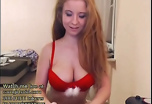 Busty redhead acquires exposed - live at link