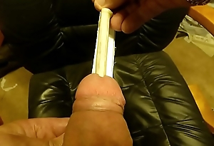 POV zoom outsert big plug realist inside my cock