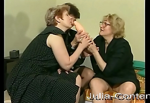 3 grandmas meet be advisable for lesbian group sex