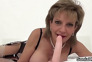 Unfaithful british milf gill ellis exposes her humongous titties