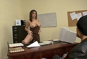 Big Tit Latin chick Boss Chevon Taylor Fucks Dude Applying For Green Possible