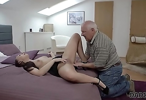 DADDY4K. Beauty Ornella Morgen enjoys nasty copulation with old daddy